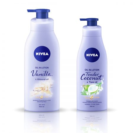 Nivea Vanilla and Almond Oil & Tender Coconut Body Lotion 600ml