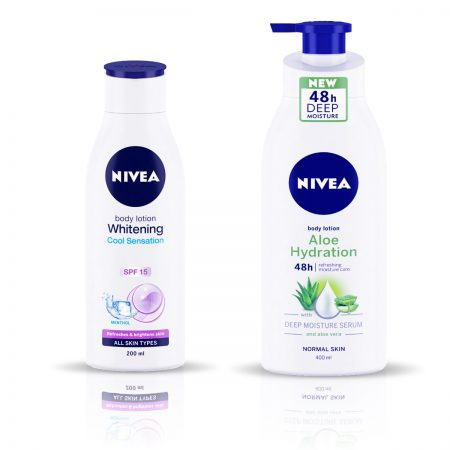 Nivea Whitening Cool Sensation & Aloe Hydration Body Lotion 600ml