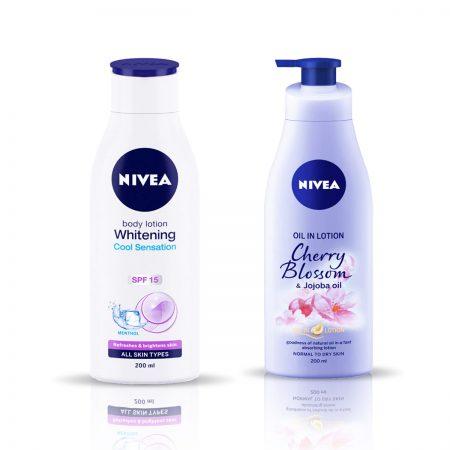 Nivea Whitening Cool Sensation & Cherry Blossom Body Lotion 400ml
