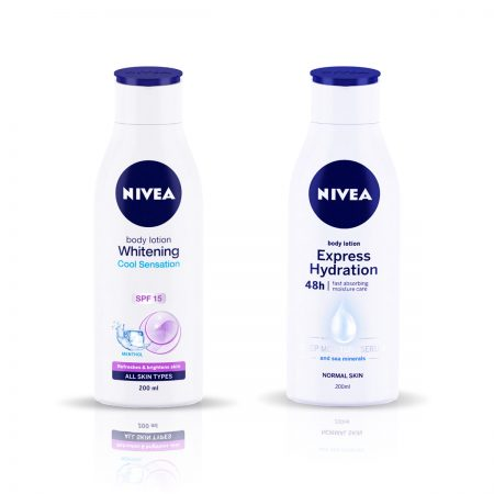 Nivea Whitening Cool Sensation & Express Hydration Body Lotion 400ml