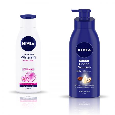 Nivea Whitening Even Tone UV Protect & Cocoa Nourish Lotion, 600ml