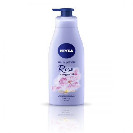Nivea Rose and Argan Oil & Nourishing Milk Body Lotion 600ml