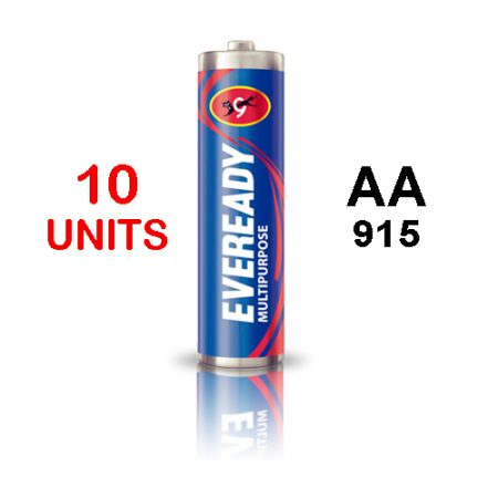 Eveready  AA 915 MULTIPURPOSE Battery – Pack of 10