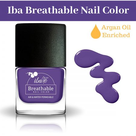 Iba Halal Care Breathable Nail Color, B05 ULTRA VIOLET, 9ml