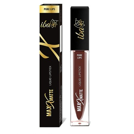 Iba Halal Care Pure Max  Matte Liquid Lipstick, CUTE COCOA – 6.8ml