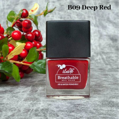 Iba Halal Care Breathable Nail Color, B09 DEEP RED, 9ml