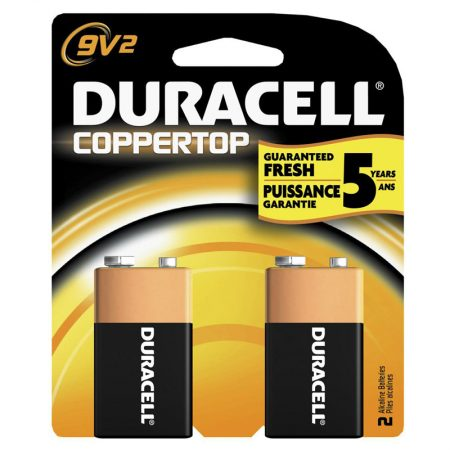 Duracell 9V Alkaline Battery – Pack of 2