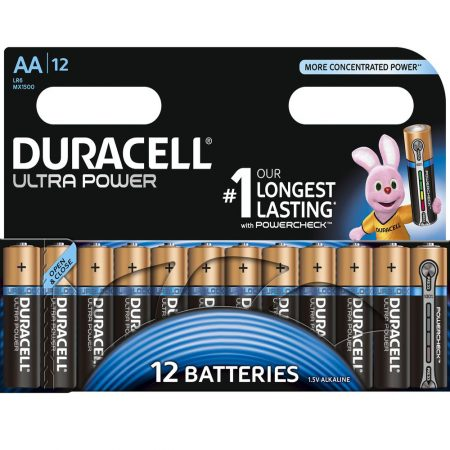 DURACELL Ultra Power AA 1.5 V Battery Pack of 12