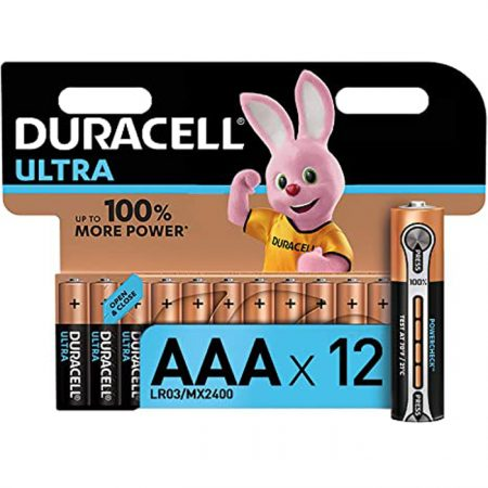 Duracell AAA Ultra Battery – Pack of 12