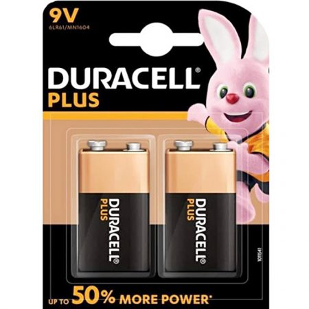 Duracell 9V Plus Battery – Pack of 2