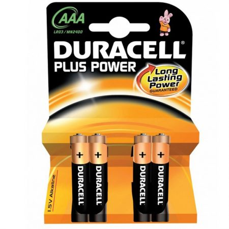 Duracell AAA Plus Power Battery – Pack of 4