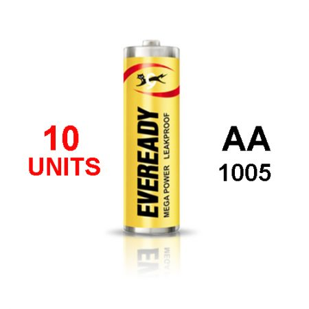Eveready  AA 1005 MEGA POWER Battery – Pack of 10