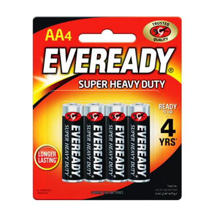Eveready  AA Super Heavy Duty Battery – Pack of 4