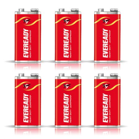 Eveready 1216, 9V Heavy Duty Battery – Pack of 6