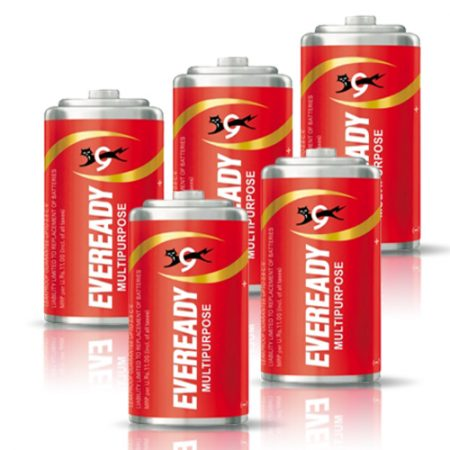 Eveready C Zinc 1035 Carbon Battery – Pack of 5