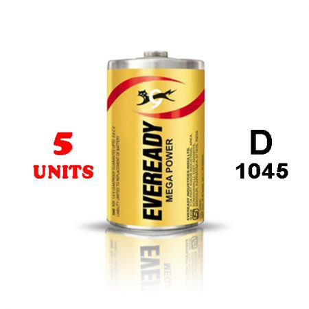 Eveready D 1045 Mega Power Battery – Pack of 5