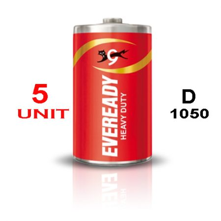 Eveready D 1050 Heavy Duty Battery – Pack of 5