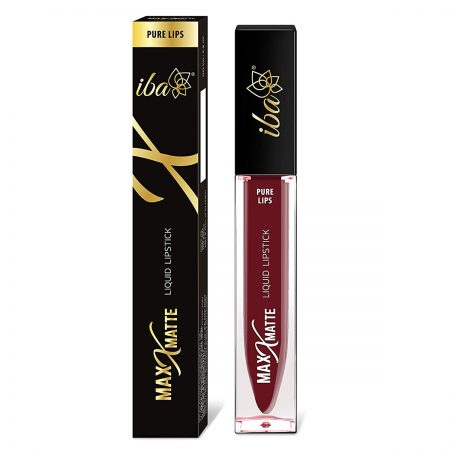 Iba Halal Care Pure Max Matte Liquid Lipstick, MYSTIQUE MAROON – 6.8ml