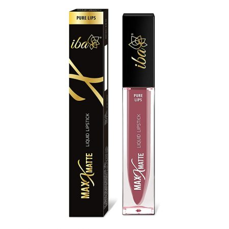 Iba Halal Care Pure Max  Matte Liquid Lipstick, PARKY PINK- 6.8ml