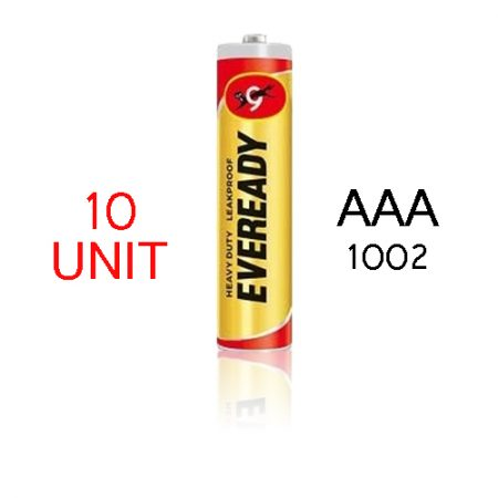 Eveready  AAA 1002 Heavy Duty Battery – Pack of 10