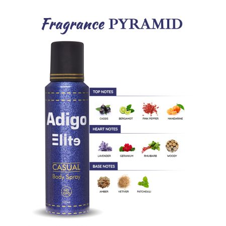 Adigo Elite Casual Body Spray 120ml Pack of 2
