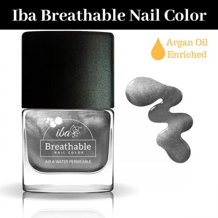 Iba Halal Care Breathable Nail Color, B22 SPARKLING SILVER – 9ml
