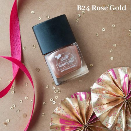 Iba Halal Care Breathable Nail Color, B24 ROSE GOLD – 9ml