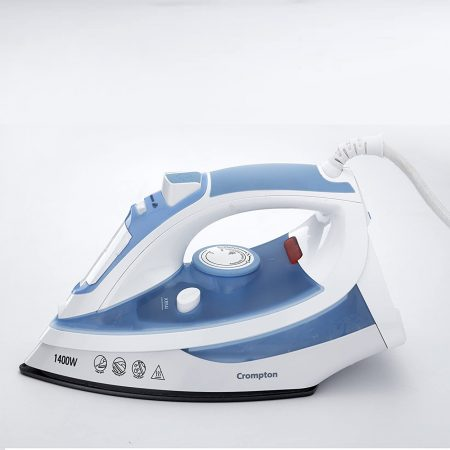 Crompton PRESTO 1400-Watt Steam Iron (Blue & White)