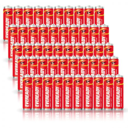 Eveready AA Batteries 1015, Heavy Duty Pack of 50