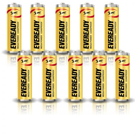 Eveready AA 1005 MEGA POWER Battery Pack of 10
