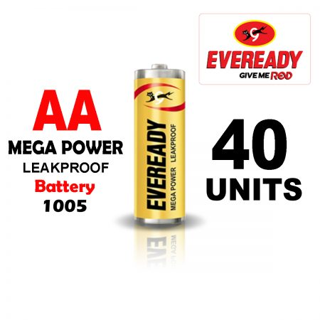 Eveready AA 1005 MEGA POWER Battery Pack of 40