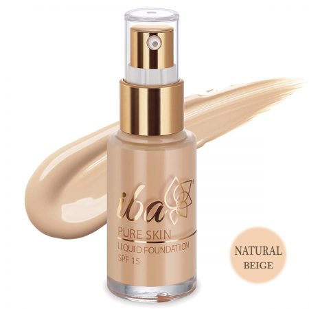 Iba Halal Care Pure Skin Liquid Foundation, SPF 15 Natural Beige 30ml