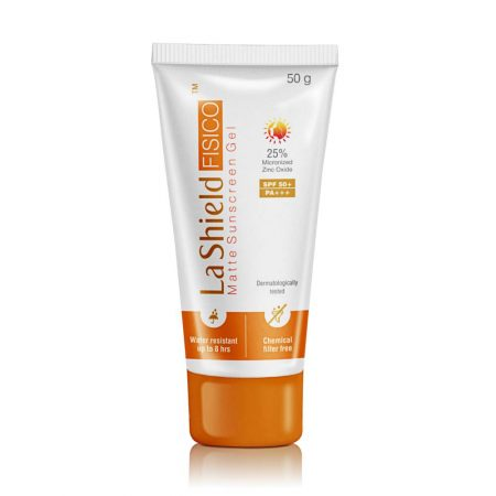 LA SHIELD Fisico Matte SPF 50+ PA+++ Sunscreen Gel 50 gm