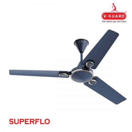 V-Guard Ceiling Fan Superflo 1200 mm, Metallic Grey