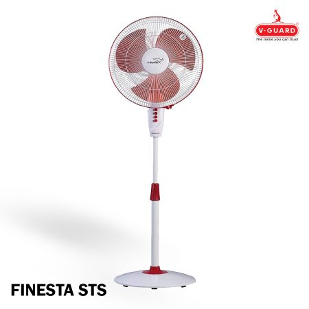 V-Guard FINESTA STS Pedestal Fan Red & White