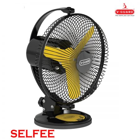 V Guard Personal Fan- Selfee 225mm Yellow & Black