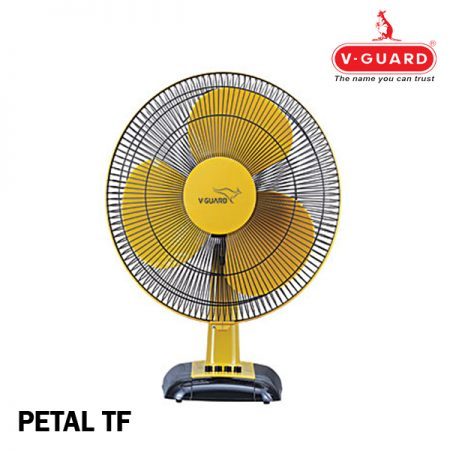 V-Guard Petal TF Table Fan Beige Black (Yellow)