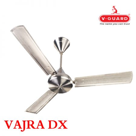 V-Guard VAJRA DX Ceiling Fan 1200mm, Polished Steel