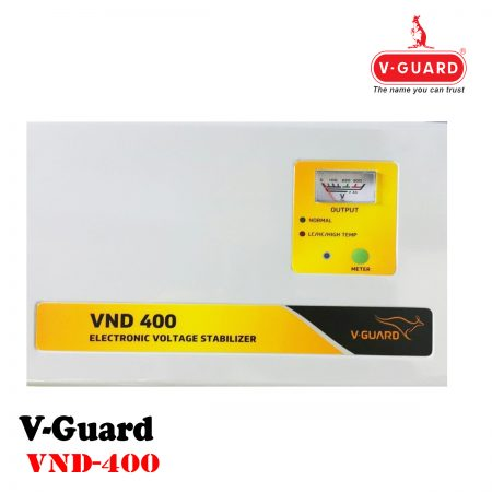V-Guard VND400 Voltage Stabilizer for 1.5 Ton AC (150V-290V) Grey