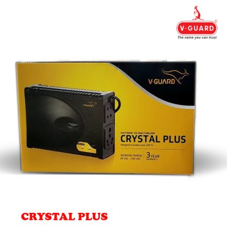 V Guard LED/LCD TV Stabilizer Crystal Plus Black