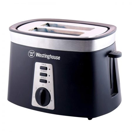 Westinghouse TO2KS-CF Pop Up Toaster (Black & Silver)
