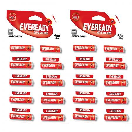 Eveready  AAA Batteries (1012, Heavy Duty) pa ck of 20
