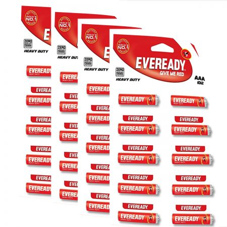 Eveready  AAA Batteries (1012, Heavy Duty) Pack of 40