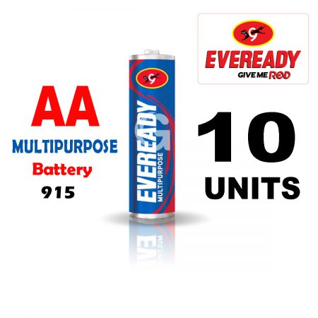 Eveready AA 915 MULTIPURPOSE Battery Pack of 10