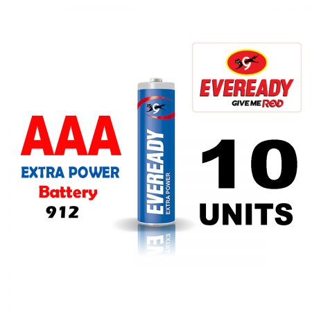 Eveready  AAA 912 Extra Power Battery Pack of 10
