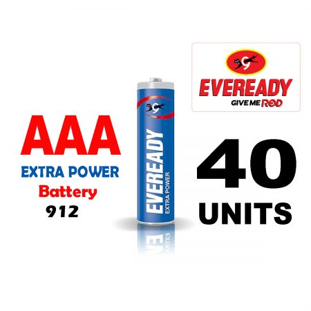 Eveready  AAA 912 Extra Power Battery Pack of 40
