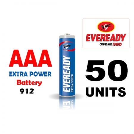 Eveready  AAA 912 Extra Power Battery Pack of 50