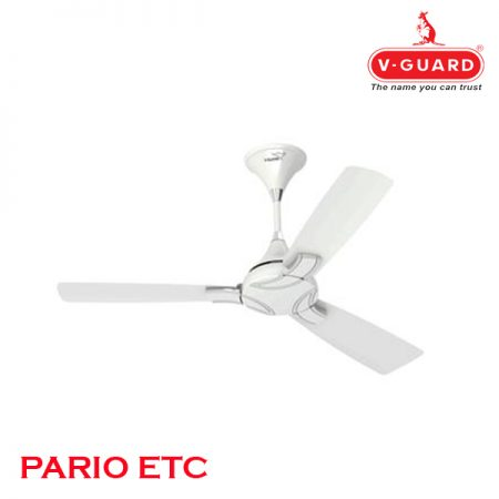 V-Guard PARIO ETC Ceiling Fan 1200mm, Jasmine White Silver