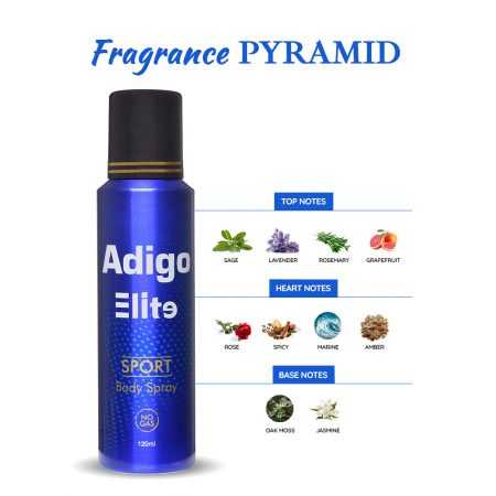 Adigo Elite Sport Deodorant Spray (No Gas) pack of 2