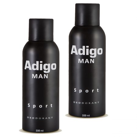 Adigo Man Sport Body Deodorant 200ml Pack of 2
